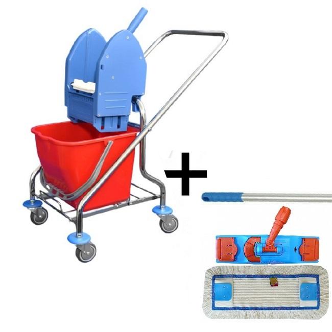 Úklidový vozík CLAROL 1 x 17 l + FLIPPER Mop sestava eco
